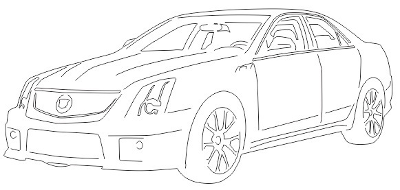 cadillac cts 2012 sedan car dxf