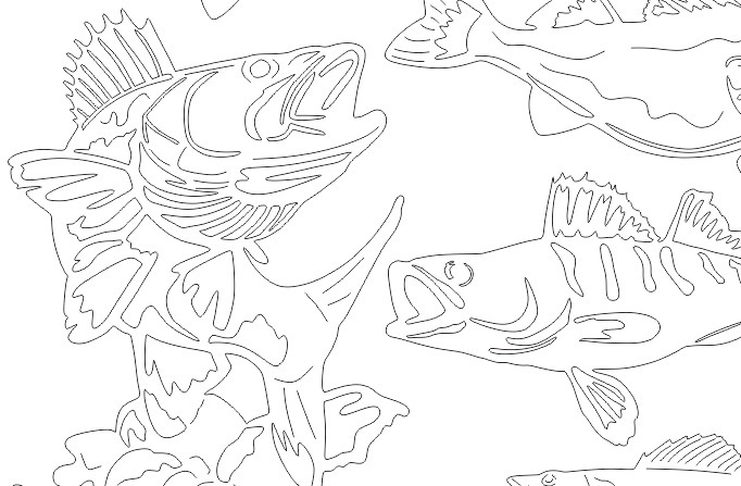 Walleye Fish DXF Set