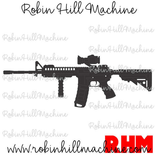 M4 Carbine Rifle DXF
