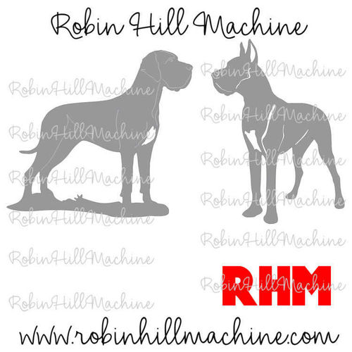 Great Dane Dog DXF