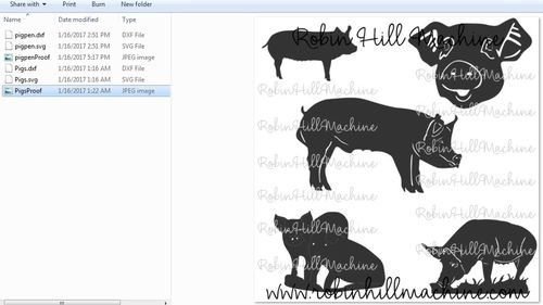 Pig Collection DXF