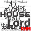 Bible Quote DXF Me my house