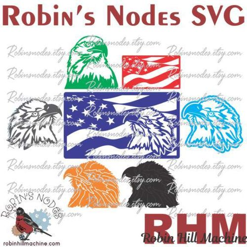 Eagle Heads SVG set