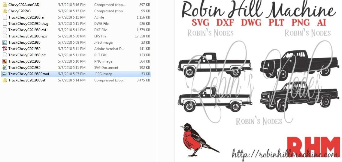 Robin Hill Machine - Chevy Truck C20 Digital file