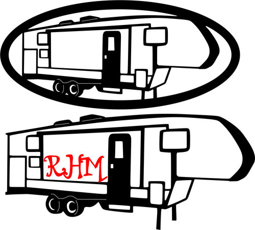 RV Camper DXF and SVG